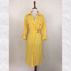 Suzi Chin for Maggie Boutique Roll Tab Shirt Dress